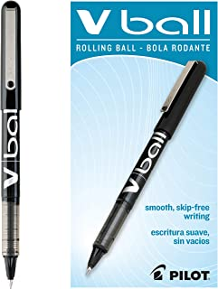 PILOT VBall Liquid Ink Rolling Ball Stick Pens, Extra Fine Point, Black Ink, 12 Count (35200)