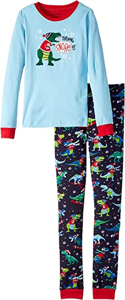 Hatley Kids - TyranoSnoreUs PJ Set (Toddler/Little Kids/Big Kids)