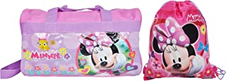 Minnie Mouse Duffel Travel Bag & Sling Bag (Pink)