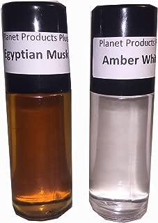 1oz Amber White, 1oz Egyptian Musk, 2 Combo Oils Roll on Body Oil Perfume Fragrance By NPS