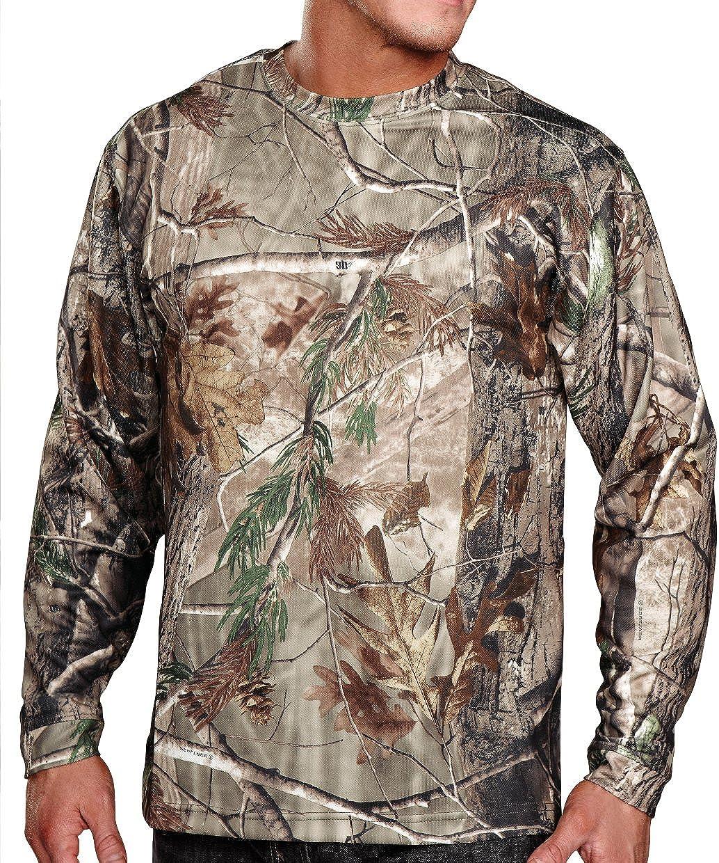OFFicial store Cheap sale Mens Moisture-Wicking Long Sleeve Shirt Camo