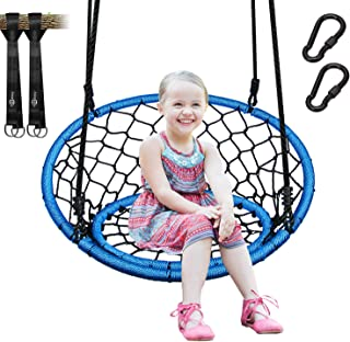 Trekassy 440lb Spider Web Chair Swing 35 Inch for Adults Kids with 2 Tree Hanging Straps and Adjustable Ropes