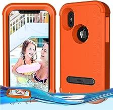 Temdan iPhone X/iPhone Xs Floating Case Shockproof Lifejacket Case Designed Flaoting on Water Kidsproof Case for iPhone X/XS 2018 (5.8inch) -Orange