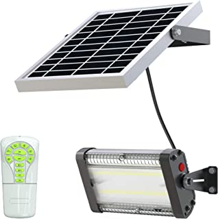 Solar LED Barn Light, 6,000mah Li-ion Battery for Outdoor/Indoor Flood Light with Remote Control, 1500 Lumen by SPC