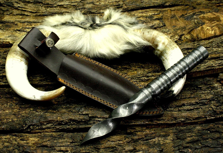 Mountain BAR Hand Forged Washington Mall Damascus TRI Knife Ranking TOP12 Steel Dagger