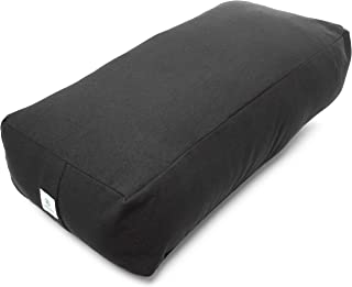 Incline Fit Round and Rectangle Supportive Yoga Bolster Filled with Cotton and Includes Machine Washable Cotton Cover and Cary Handle