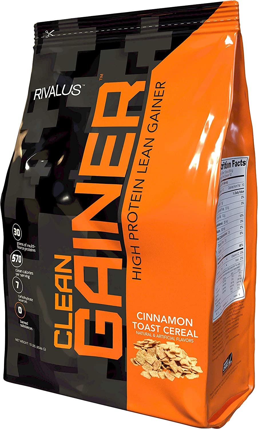 Rivalus Clean Gainer New product! New type Cinnamon Toast Cereal 10 Max 57% OFF Pound