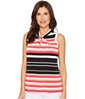 Tommy Hilfiger Sleeveless Stripe Knot Neck Knit Top