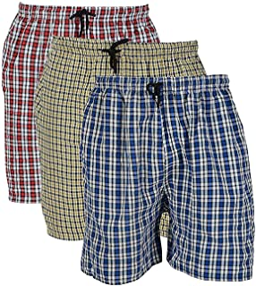 fairdeals Boxers for Men Cotton Casual Checkered Multicoloured - Pack of 3