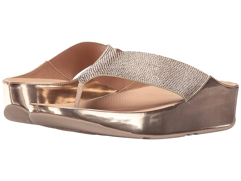 FitFlop Crystall Toe Post (Rose Gold) Women