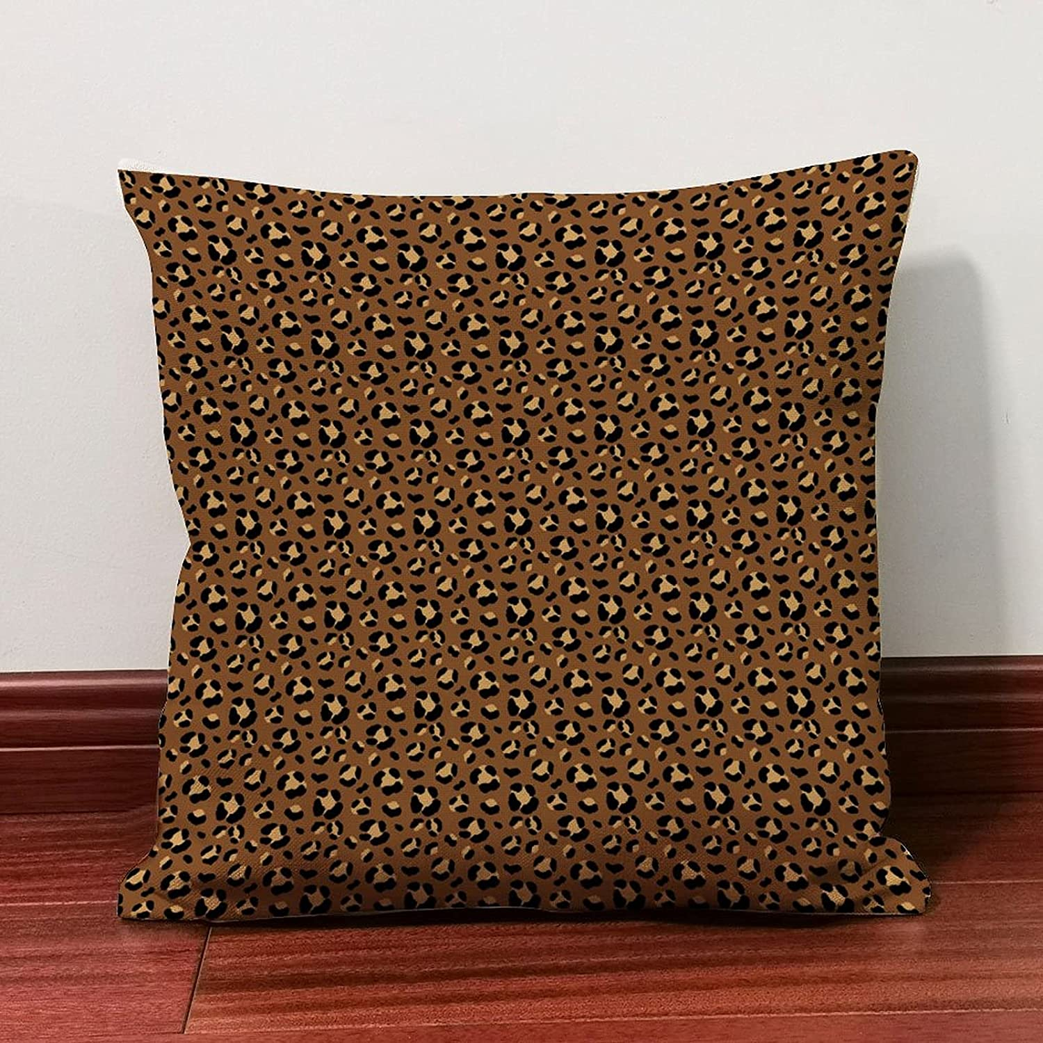 ArogGeld Brown Leopard Easy-to-use Print Patterns Throw Cover Outdoor Pillow Ranking TOP10
