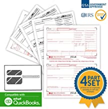 W-2 Employee Laser Forms (W2) (4-Part) Kit 2018 with Self Seal Envelopes for 25 Employees) + 3 Free W-3 Transmittal Forms - IRS Aprroved