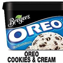 Breyers Frozen Dairy Dessert, OREO Cookies & Cream, 48 oz