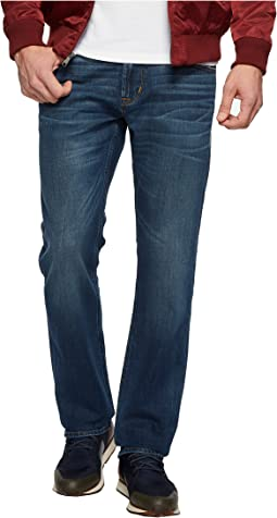 Hudson Byron Straight Zip Fly Jeans in Shuvit