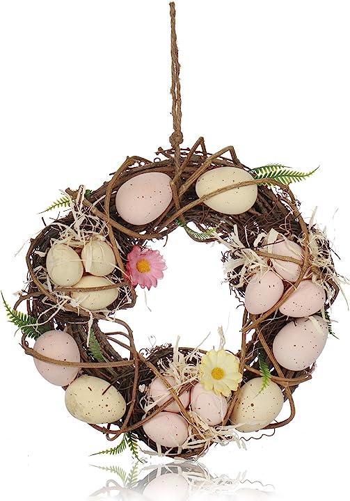 Ghirlanda pasquale con uova colorate - com-four CF13249