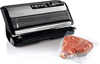 FoodSaver FM5200 2-in-1 Automatic Vacuum Sealer Machine with Express Bag Maker | Safety Certified | Silver, 9.3 x 17.6 x ...