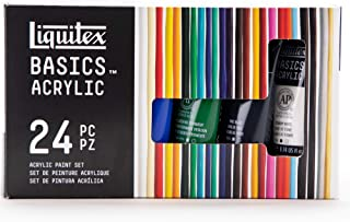 Liquitex BASICS 24 Tube Acrylic Paint Set, 22ml