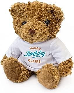 New - Happy Birthday Claire - Teddy Bear - Cute Soft Cuddly - Gift Present