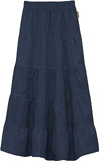 Baby'O Girl's (Children's) Ankle Length Long Denim 5 Tiered Skirt