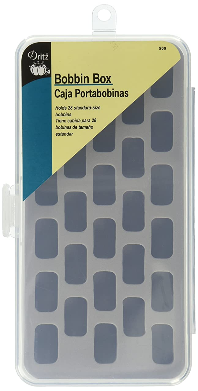 Dritz 509 Box with Foam Insert, Holds 28 Bobbins (not Included)