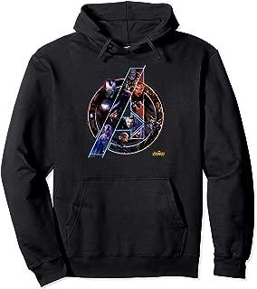 Avengers Infinity War Neon Team Graphic Hoodie