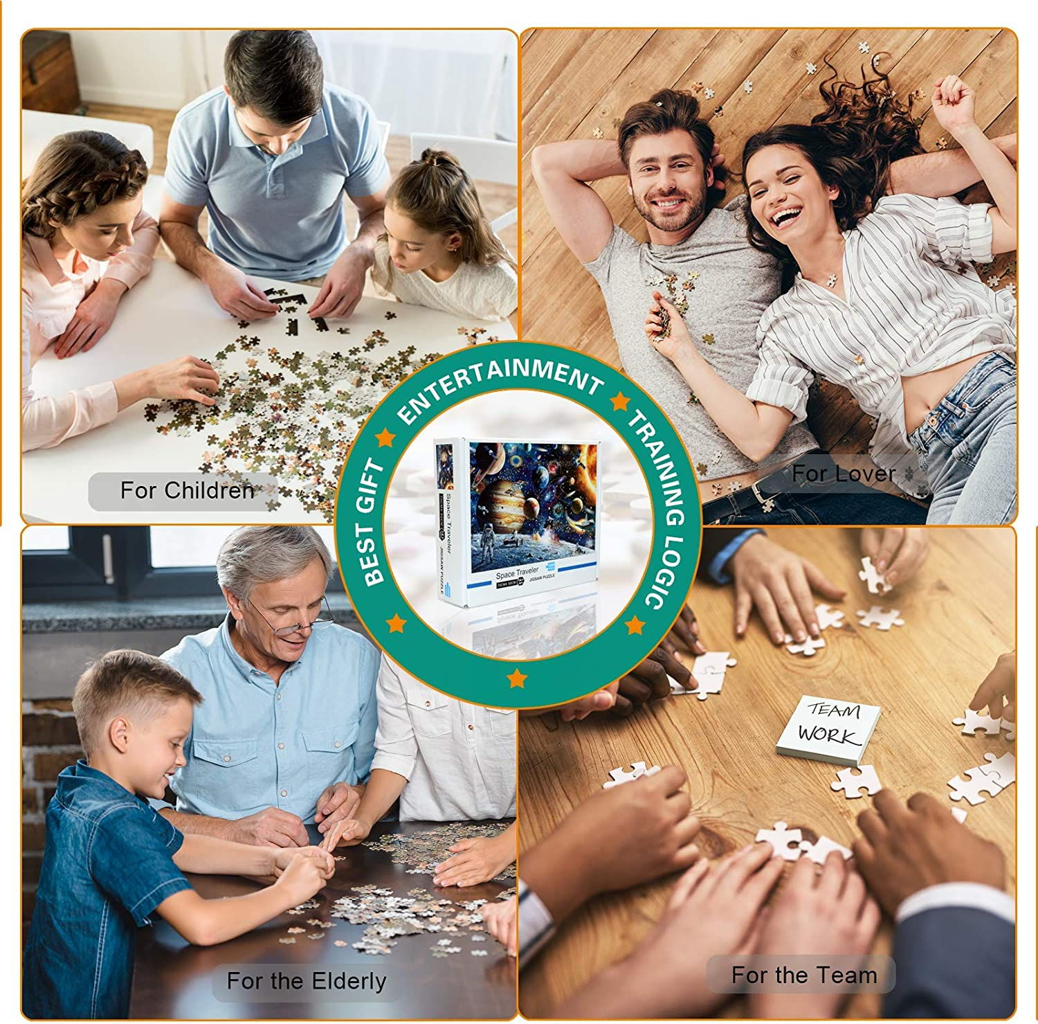 Jigsaw Puzzles 1000 Pieces for Adults-Difficult Puzzles for Adults-Dowdle Puzzles for Adults/&Kids 1000 Piece(Lover Rainy Night Walk