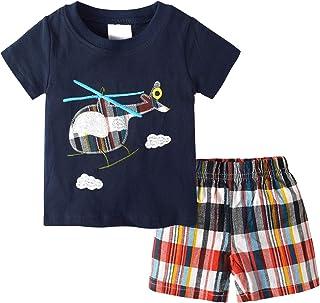 Toddler Baby Boy Clothes Sets Cartoon Printing T-Shirt...