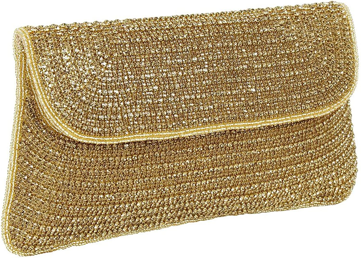 Purse Collection Gorgeous Traditional golden Colour Handmade Beaded Clutch Purses For Women's