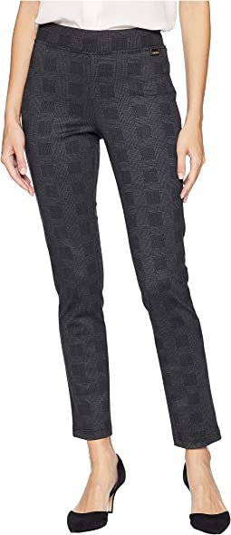 Glen Plaid Pull-On Pants