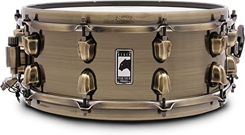 Caisse claire noir Panther 14 x5,5 , The laiton Cat