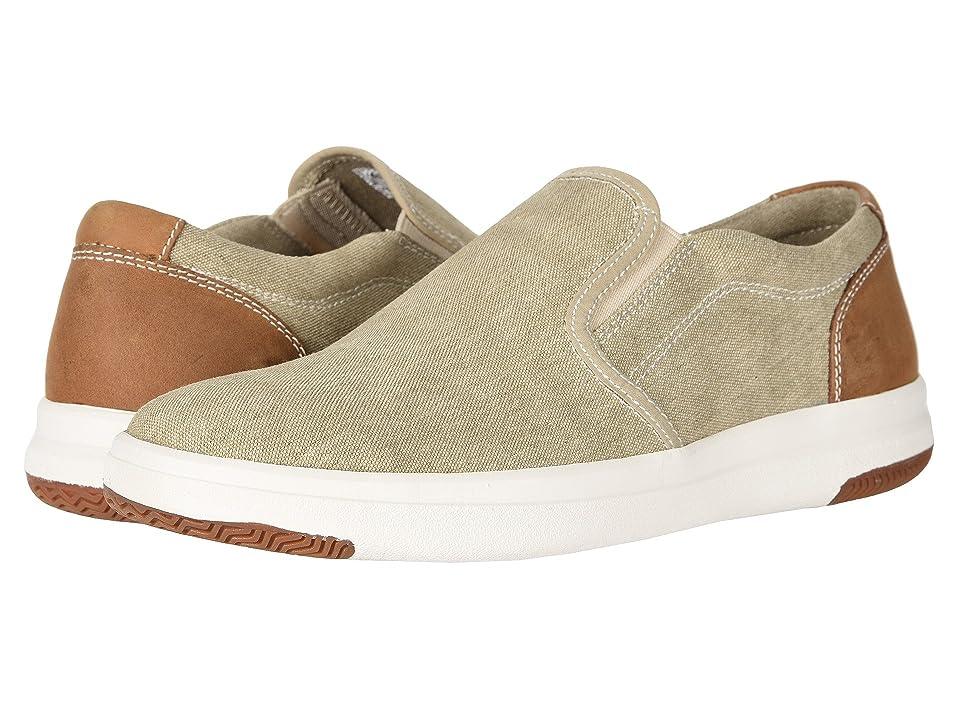 Dockers Nobel Smart Series Slip-On Sneaker with Smart 360 Flex and NeverWet (Sand Washed Canvas) Men