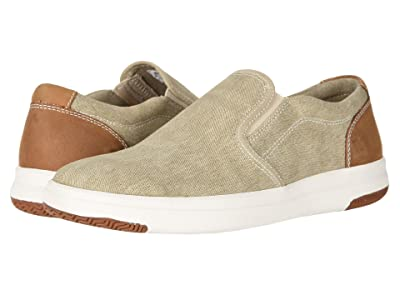 Dockers Nobel Smart Series Slip-On Sneaker with Smart 360 Flex and NeverWet (Sand Washed Canvas) Men