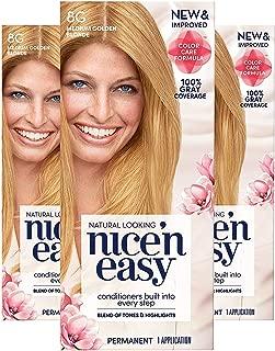 Clairol Nice'n Easy Permanent Hair Color, 8G Medium Golden Blonde, Pack of 3