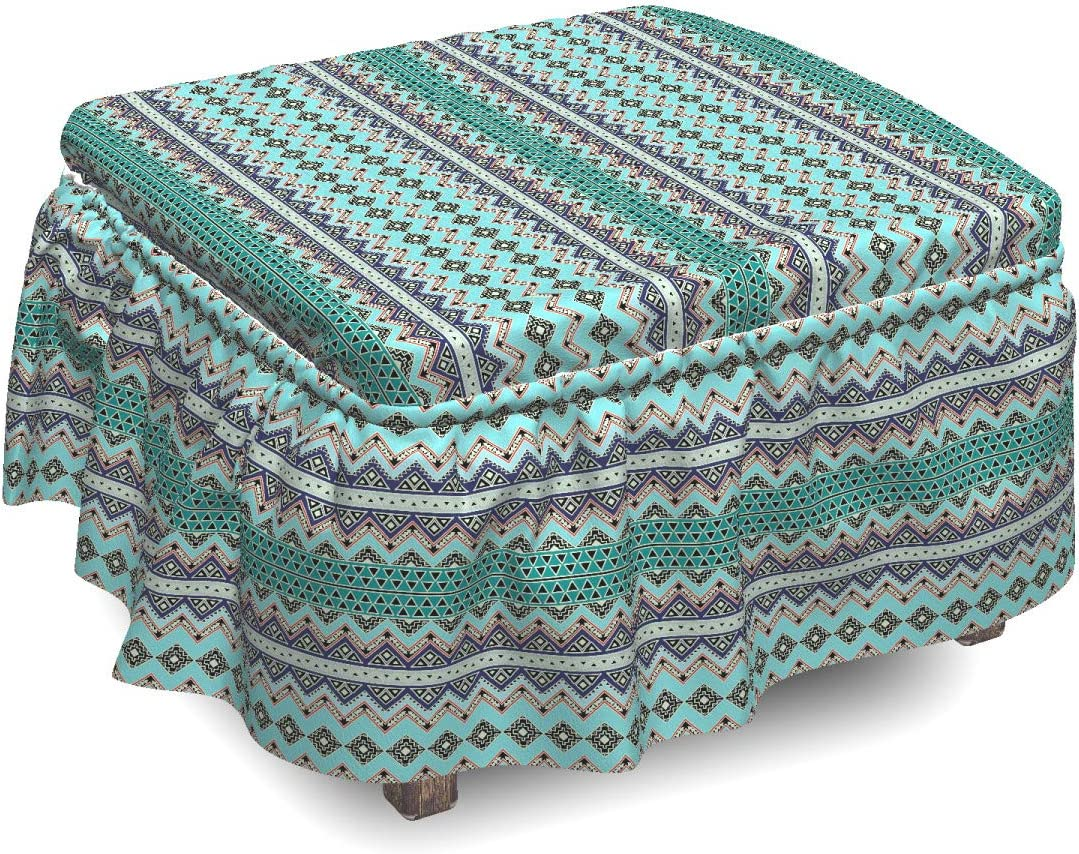 Ambesonne Bohemian Minneapolis Mall shopping Ottoman Cover Traditional Aztec 2 Art Piece