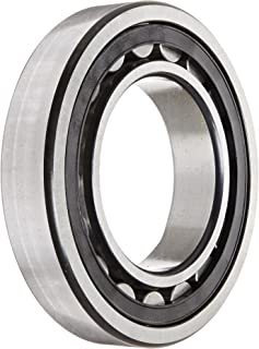 FAG NU214E-TVP2-C3 Cylindrical Roller Bearing, Single Row, Straight Bore, Removable Inner Ring, High Capacity, Polyamide Cage, C3 Clearance, 70mm ID, 125mm OD, 24mm Width