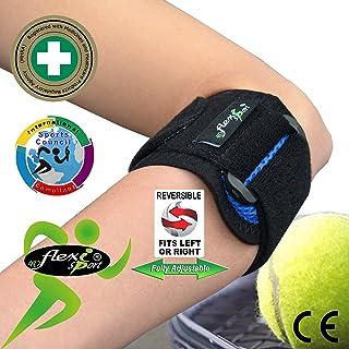 comprar comparacion Brazalete para tratamiento del CODO DE TENISTA (Azul Royal) Llevado en Wimbledon. ANTI-SUDOR, HIPOALERGÉNICO libre de Neop...