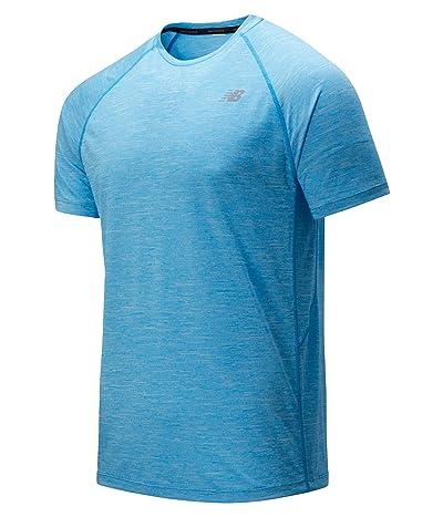 New Balance Tenacity Short Sleeve Tee (Vision Blue) Men