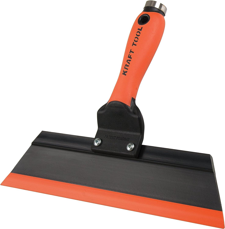 Kraft Tool Gg242 Squeegee Trowel 12 Inch Orange Black Masonry Hand Trowels Amazon Com