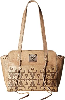 American West - Crossed Arrows Zip Top Tote