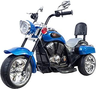 Freddo Chopper Style Electric Ride ON Motorcycle for Kids - 6V Battery Powered 3 Wheel Ride ON Toy for Boys, Girls, and Toddlers - Blue