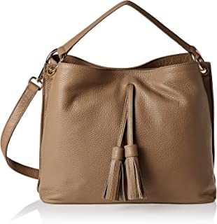 Vittoria Napoli 3081 Hobo Bag for Women - Leather, Taupe