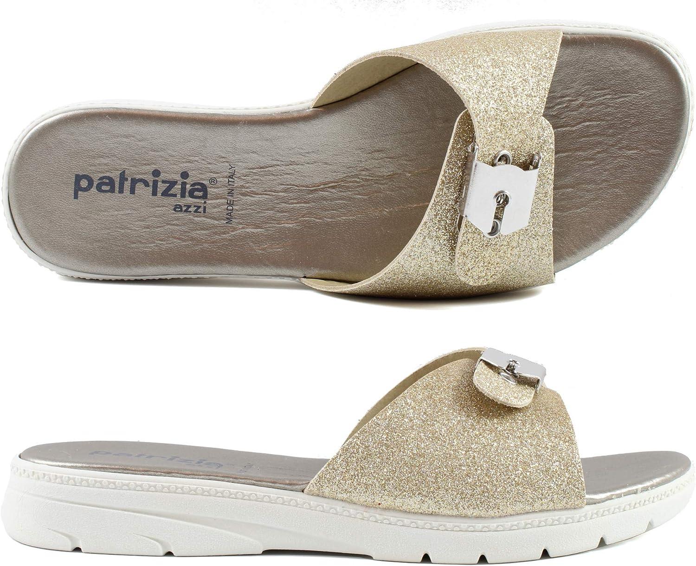 Generico Patrizia Ciabatte Donna Aperte estive Fibbia Regolabili Made in Italy P21