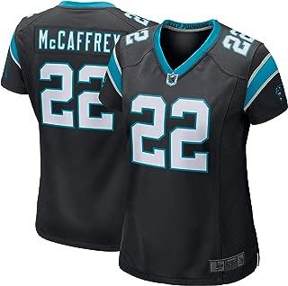 SF21 Custom Jersey Women's #22 McCaffrey Panthers Christian Black Game Jersey Sportswear T-Shirt