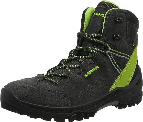 Lowa Arco GTX Mid Junior, Chaussures de Randonnée Hautes Mixte Adulte, noir (Antracite Limone 9702), EU