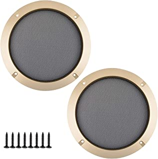 Bluecell 2pcs Screw Hole C to C 6.5'' Mesh Speaker Decorative Circle Subwoofer Grill Cover Guard Protector with 8pcs Screw...