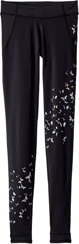 Butterfly Printed Stirrup Leggings (Little Kids/Big Kids)