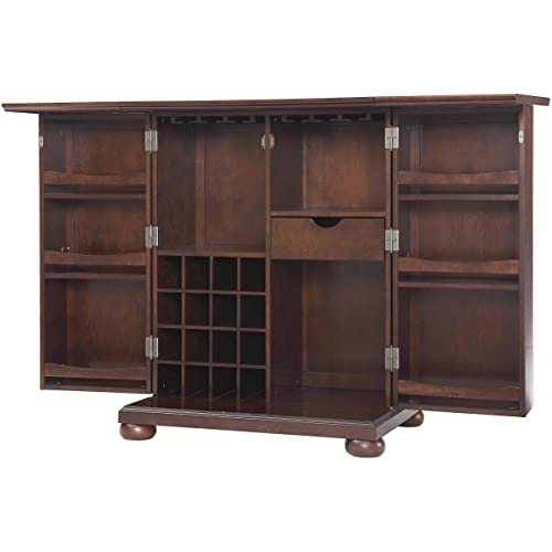 Crosley Furniture Alexandria Expandable Top Bar Cabinet - Vintage Mahogany - Vintage Bar Cabinets: Amazon.com