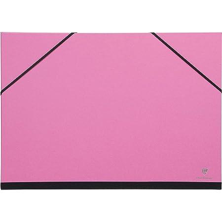 Clairefontaine 144406C - Un carton à dessin fermeture élastiques 52x72 cm, Fuchsia