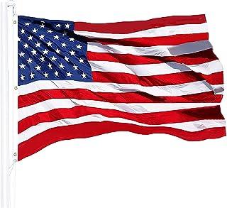 G128 - American Flag 5x8 FT Heavy Duty 100% Tough Nylon Embroidered Stars Sewn Stripes Brass Grommets USA US Flag