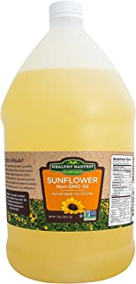 Healthy Harvest Non-GMO Sunflower Oil - Healthy Cooking Oil for Cooking, Baking, Frying & More - Naturally Processed to Re...